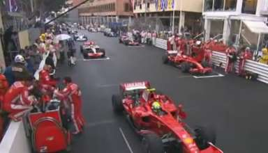 start of the Monaco GP F1 2008 screenshot