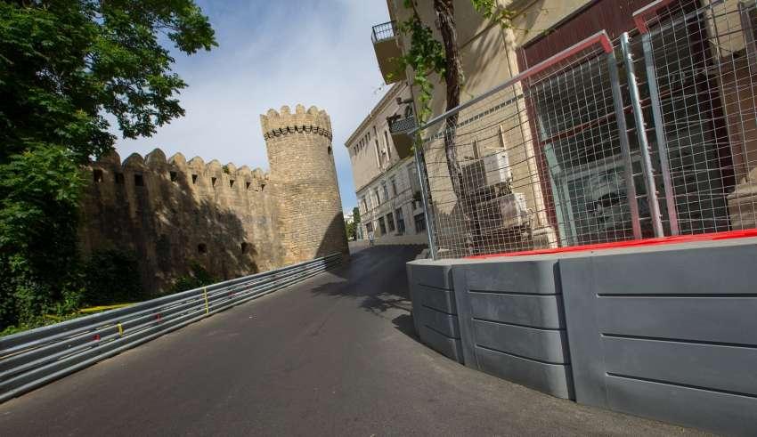 Baku City Circuit tight turn 8