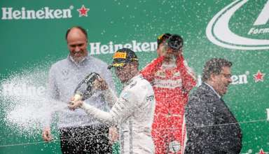 Canada GP F1 2016 podium champagne spray after the race Foto Daimler