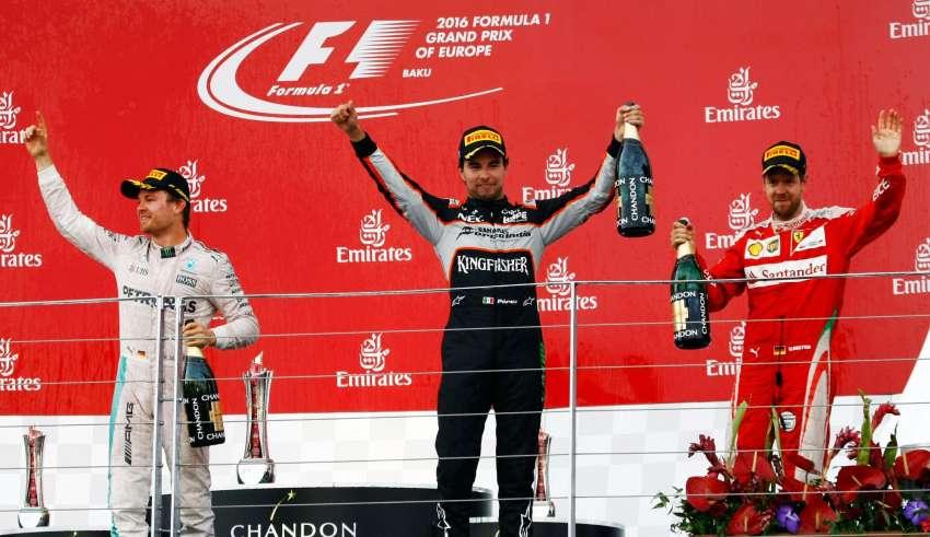 European GP Baku F1 2016 podium ceremony Foto Force India