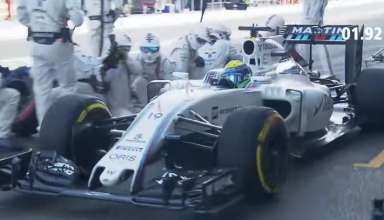 Felipe Massa Williams FW38 Mercedes European GP Baku F1 2016 fastest pitstop DHL screenshot youtube