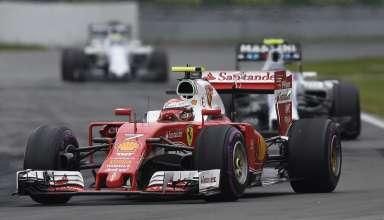 Kimi Raikkonen Ferrari SF16-H in front of Williams drivers Canadian GP F1 2016 race Foto Ferrari