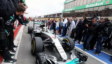 Lewis Hamilton Mercedes W07 Hybrid Canada GP F1 2016 after the race pitlane Foto f1fanatic