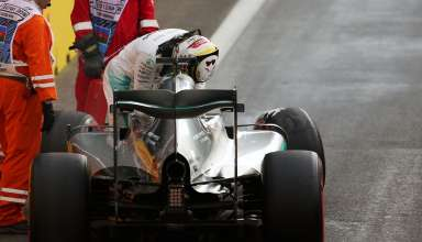 Lewis Hamilton Mercedes W07 Hybrid q3 qualifying chrash Q3 European GP Baku F1 2016 Foto F1fanatic