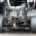 Mercedes F1 W07 Hybrid diffuser and rear wing detail European GP Baku F1 2016 Foto Auto Motor und Sport