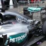 Mercedes F1 W07 Hybrid side rear view European GP Baku F1 2016 Foto Auto Motor und Sport