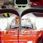 New Halo 2 concept Ferrari SF16-H Austrian GP F1 2016 close view Foto auto motor und sport
