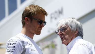 Nico Rosberg and Bernie Ecclestone European GP Baku F1 2016 Foto Auto Motor und Sport