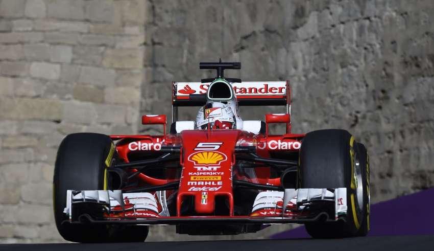 Sebastian Vettel Ferrari SF16-H middle sector European GP Baku F1 2016 Foto Ferrari