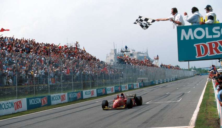 Jean Alesi (FRA) Ferrari 412T2, takes his first win. Canadian Grand Prix, Montreal, 11th June 1995