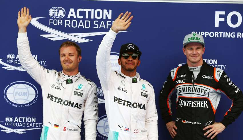 Austrian GP F1 2016 qualifying top three Foto Force India