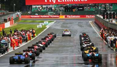 British GP F1 2016 start behind safety car Foto f1fanatic