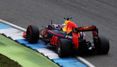 Daniel Ricciardo Red Bull RB12 TAG Heuer German GP F1 2016 kerb Foto Red Bull