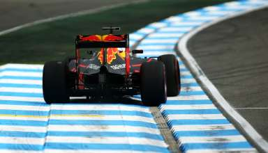 Daniel Ricciardo Red Bull RB12 TAG Heuer German GP F1 2016 first corner exit oversteer Foto Red Bull