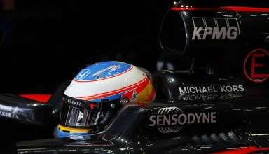 Fernando Alonso McLaren Honda MP4-31 British GP SIlverstone F1 2016 in garage Foto McLaren