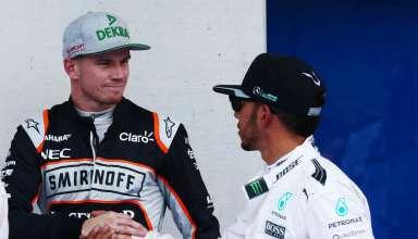 Hamilton Hulkenberg Austrian GP F1 2016 Foto Force India
