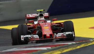 Kimi Raikkonen Ferrari SF16-H Austrian GP F1 2016 first corner exit Foto Ferrari