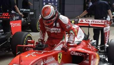 Kimi Raikkonen Ferrari SF16-H Great Britain GP F1 2016 exits the car Foto Ferrari