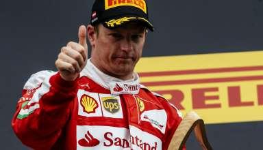 Kimi Raikkonen Ferrari SF16-H podium ceremony Austria GP F1 2016 foto Ferrari