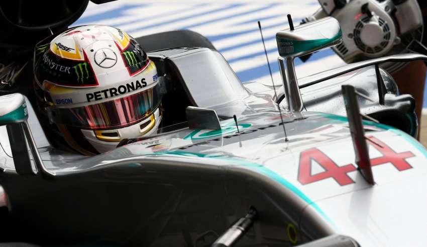 Lewis Hamilton Mercedes F1 W07 Hybrid Great Britain GP helmet Silverstone F1 2016 Foto f1fanatic