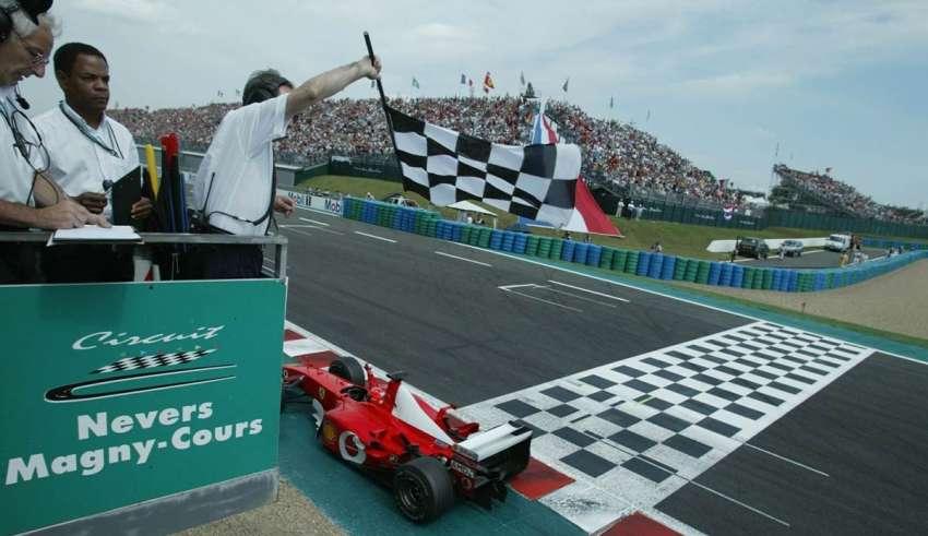 Michael Schumacher French GP F1 2002 Foto Sutton