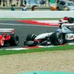 Michael Schumacher Kimi Raikkonen French GP F1 2002 Foto Sutton