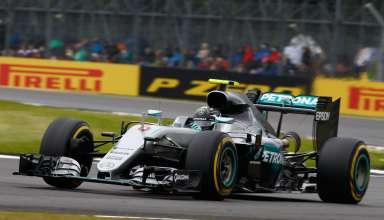 Nico Rosberg Mercedes F1 W07 Hybrid soft Pirelli Great Britain GP Silverstone F1 2016 Foto Damler