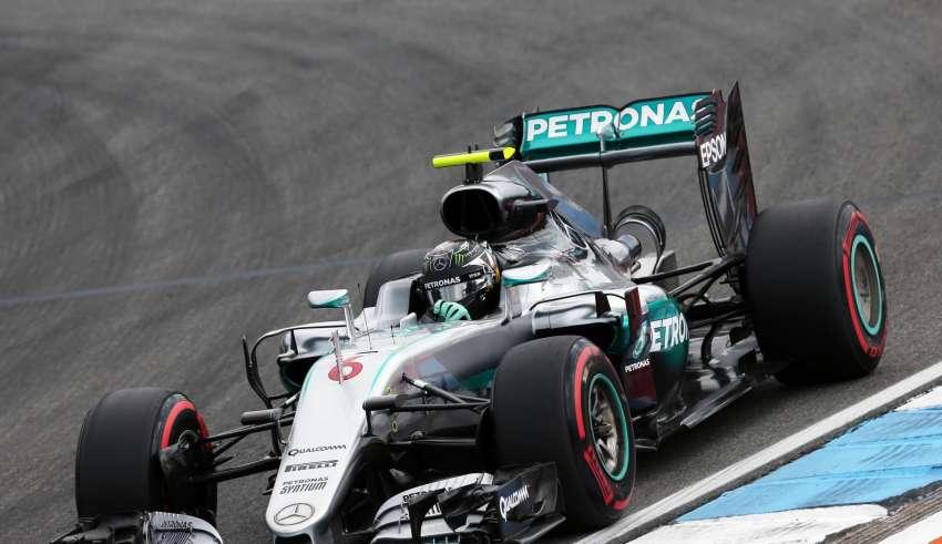 Nico Rosberg Mercedes W07 Hybrid German GP F1 2016 Foto XPB