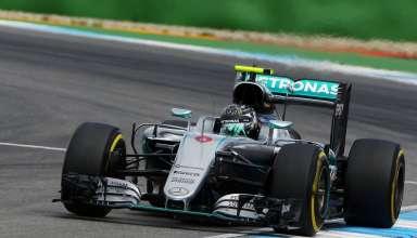 Nico Rosberg Mercedes W07 Hybrid German GP F1 2016 penultimate corner soft Foto XPB