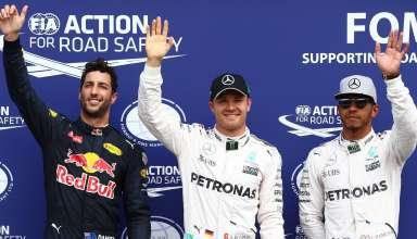 Nico Rosberg Mercedes W07 Hybrid German GP F1 2016 top three after qualy Foto Daimler
