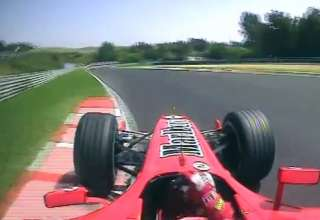 Schumacher Ferrari F2005 Hungaroring F1 2005 pole position onboard lap screenshot