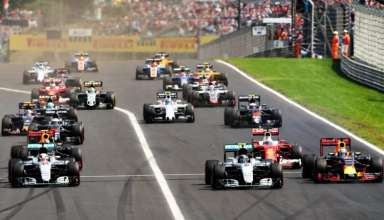 Start of the Hungarian GP F1 2016. zoom foto Red Bull