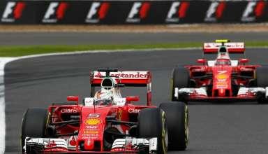 Vettel Raikkonen Ferrari SF16-H British GP F1 2016 Foto motorsport