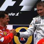 2000-Belgian-Grand-Prix-Mika-and-Schumacher-on-Podium Foto McLaren