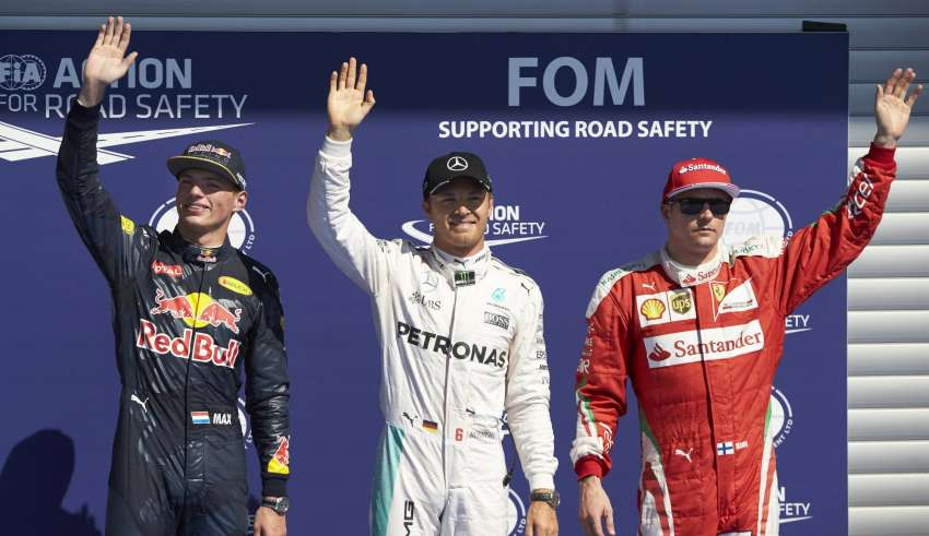Belgian GP F1 2016 top3 qualy Foto Daimler