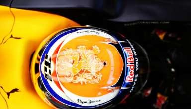 Max Verstappen Red Bull RB12 TAG Heuer Belgian GP F1 2016 new orange helmet Foto Red Bull