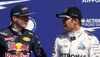 Max Verstappen and Nico Rosberg Belgian GP F1 2016 post qualy Foto Daimler