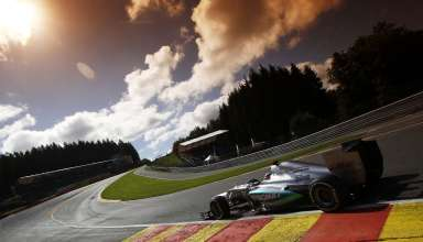 Michael Schumacher Mercedes W03 Belgian GP F1 2012 Foto Daimler Eau Rouge