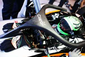 Nico Hulkenberg Force India VJM09 Mercedes Belgian GP F1 2016 halo concept top angle Foto Force India