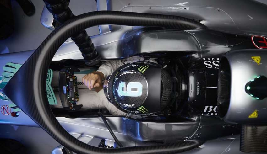 Nico Rosberg Mercedes W07 Hybrid Belgian GP F1 2016 halo concept from above top Foto Daimler