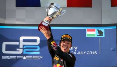Pierre Gasly GP2 Series on podium in Budapest Foto Red Bull