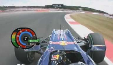 Red Bull RB6 trough Copse Silverstone F1 2010 screenshot