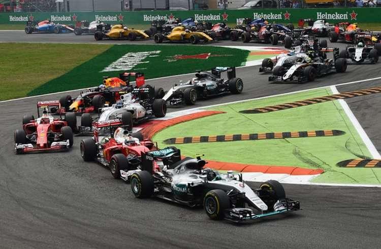 Start of the Italian GP Monza F1 2016 Foto Sky Sports F1