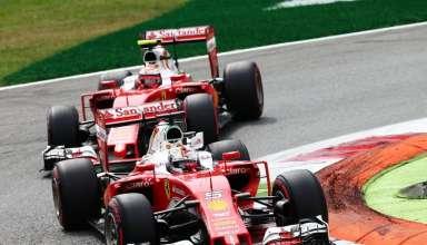 Vettel leads Raikkonen Italian GP F1 2016 Monza Foto F1fanatic-XPB