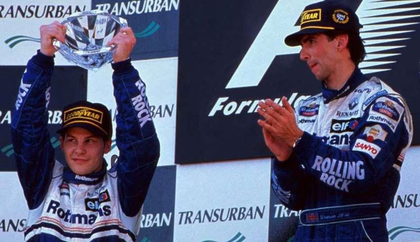 villeneuve-hill-williams-f1-1996-australia
