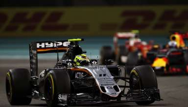 sergio perez force india abu dhabi f1 2016