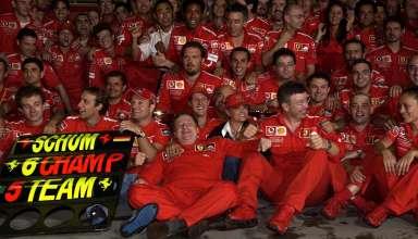 Ferrari Japan F1 2003 celebration Foto Ferrari