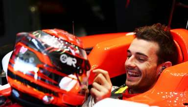 Jules Bianchi smile in a car