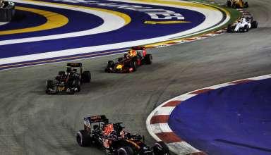 Kvyat leads Sainz and Verstappen Singapore GP F1 2016 Foto Red Bull