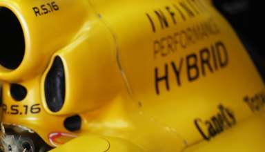Renault RS16 engine cover F1 2016 Foto Renault